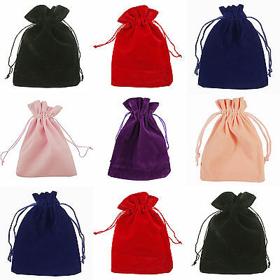Jewelry Jewellery Box Bags Luxury Velvet Gift Bag Black Red Drawstring Pouch