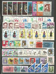 DDR-1964-gestempelt-komplett-mit-allen-Einzelmarken-SUPER-Stempel-4-Foto-s