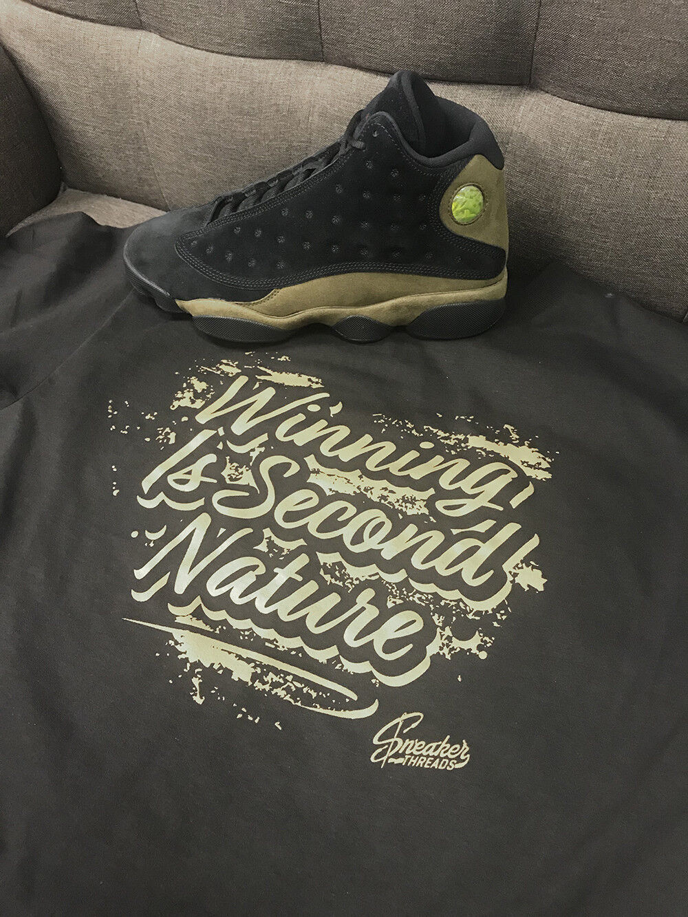 Shirt Match Jordan 13 Olive shoes Retro 13 - Second Nature Tee