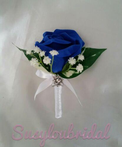 Wedding Bridal Single /& Double Pin On Corsage Buttonhole Pearls Gypsophila