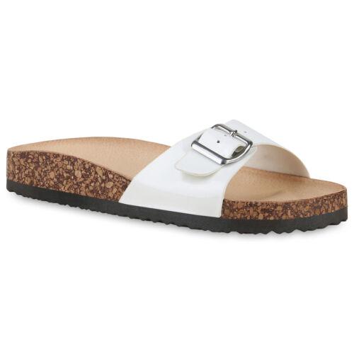 Damen Sandalen Pantoletten Lack Sommer Hausschuhe Schlappen 897627 Modatipp
