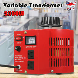 20Amp-110V-Variac-Transformer-Variable-AC-Power-Regulator-0-130V-20A-Metered-RED