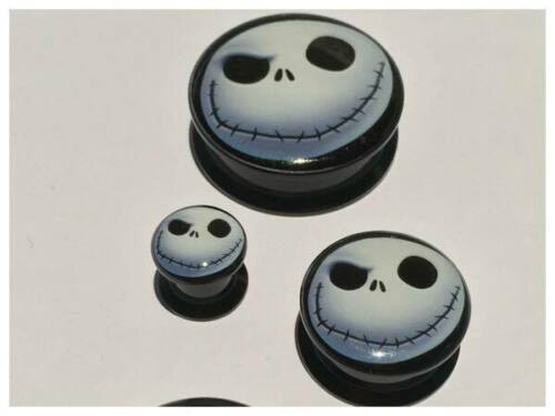 Pair Nightmare Before Christmas Ear Plugs Flesh Tunnels Stretcher Taper 6-30mm