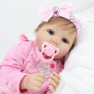 Toddler-Reborn-Baby-Girl-Doll-22-034-Soft-Vinyl-Silicone-Lifelike-Newborn-Gift-2019