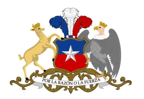 """Chile coat of arms Sticker vinyl Decal 5/"""" x 3.5/"""""""