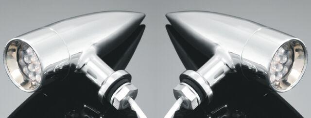 CHROME LED TURNSIGNAL/INDICATORS PAIR Motorcycle/Harley/Chopper/Custom 68-5010