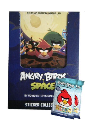2 BONUS PACKS OF TRADING CARDS ANGRY BIRDS SPACE STICKER COLLECTION 50 PACKS