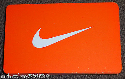 no cash value Nike CANADA 2014 SWOOSH Logo Collectors gift card English//French