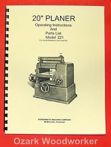 POWERMATIC 26 Shaper Instructions /& Part Owner/'s Manual 0549