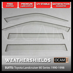 Weathershields-for-Toyota-Landcruiser-80-Series-1990-98-Clear-Visors