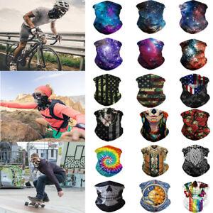 5 PACK Facemask Bandana Trainmen Cycling Biker Scarves Bandanas Half Face Cover