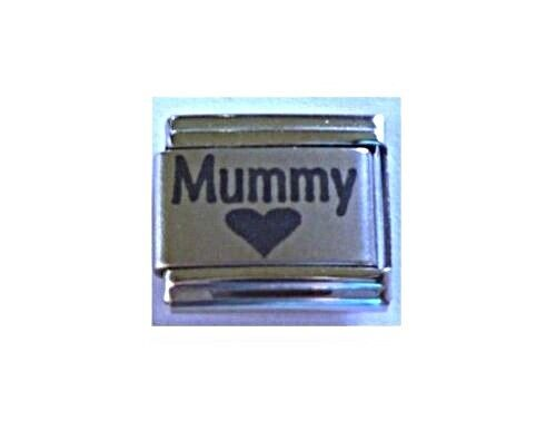 9mm Italian Charm L24 Mummy Mother Mum Love Heart Fits Classic Size Bracelet