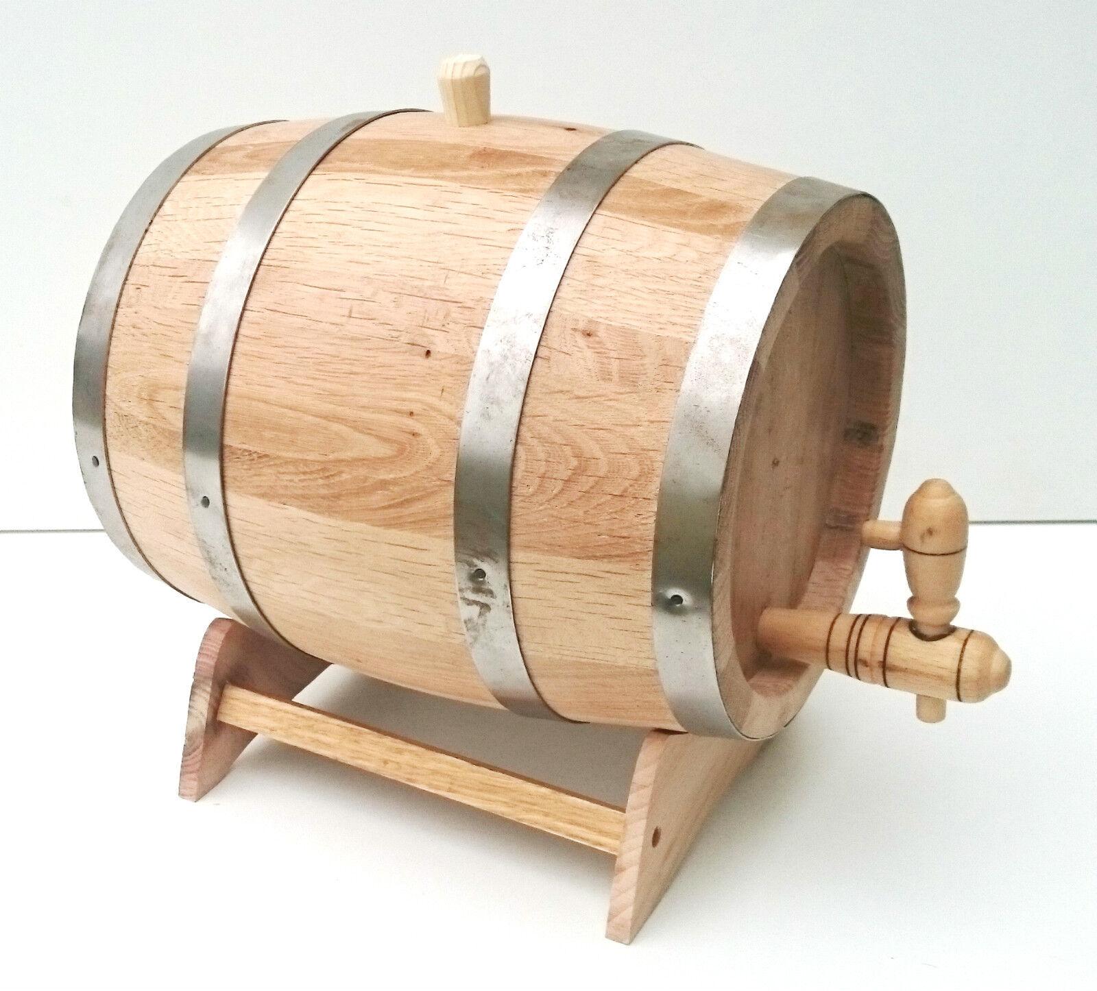 3L Oak Fass Getostet Eichenholz mit Hölzern Tippen & & & Podest für Alterung Schnaps | Verwendet in der Haltbarkeit  37a564