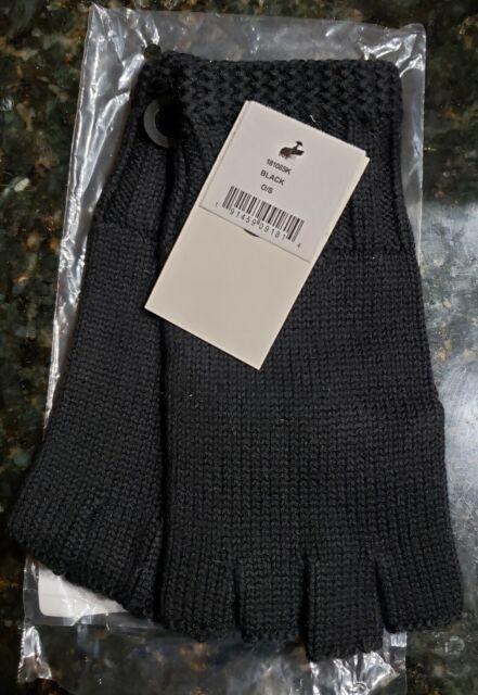 UGG Women's Knit Fingerless Gloves w Cuff Wool Blend Black Color NWT