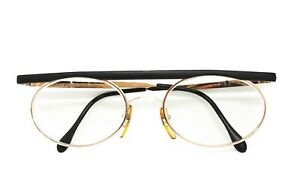 Flat-top-1970s-eyeglasses-hand-assembled-CLAUDIO-LA-VIOLA-oval-lenses-Vintage