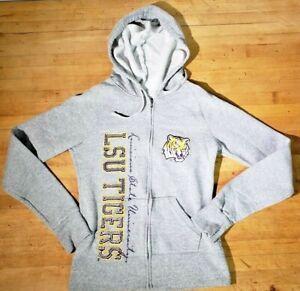 Soffe-LSU-Hoodie-Women-S-Full-Zip-Hoodie-Jacket-Sweater-Gray