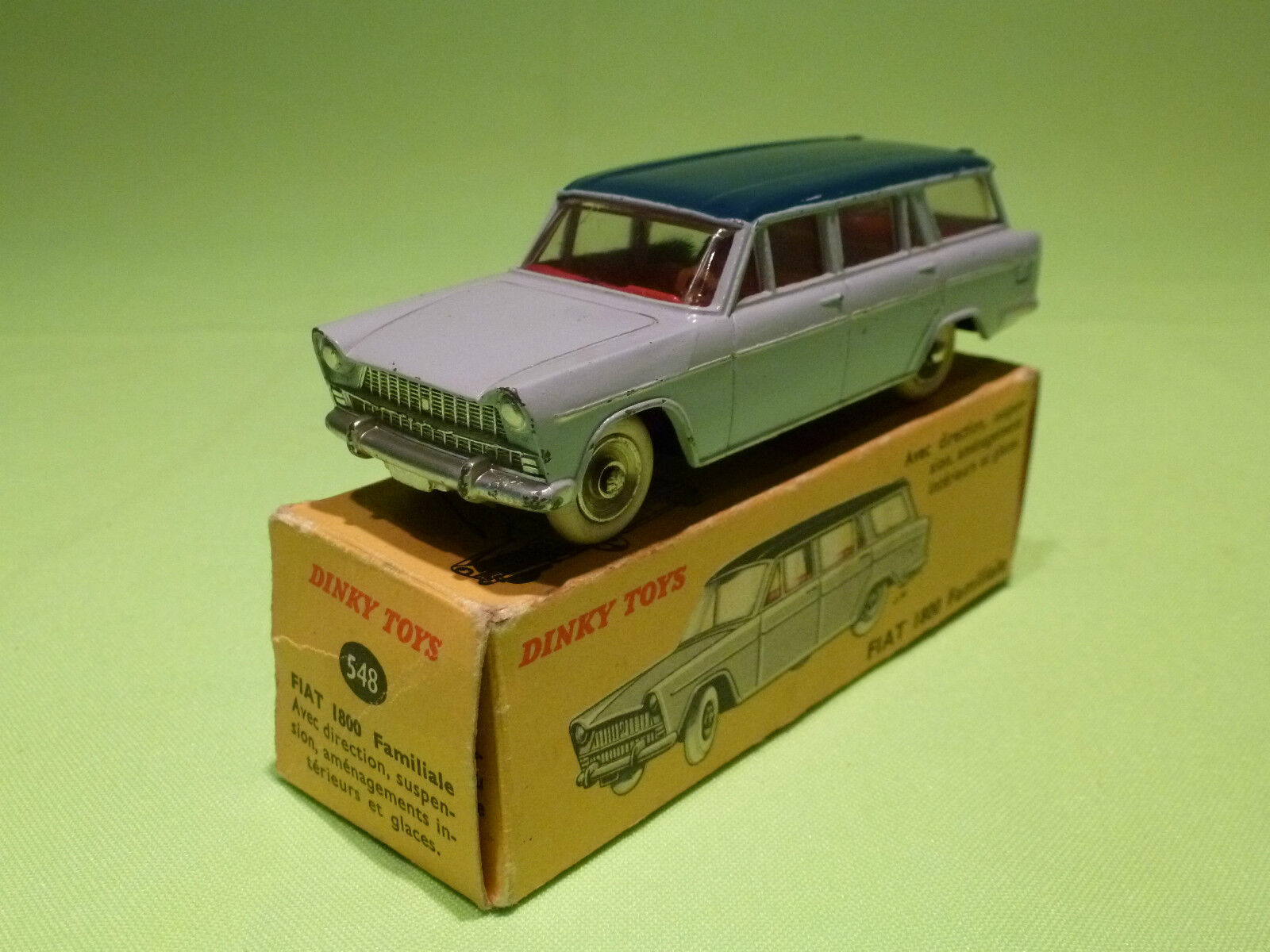 DINKY TOYS 548  FIAT 1800 FAMILIALE - RARE SELTEN - EXCELLENT CONDITION IN BOX
