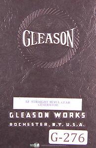 gleason 12 inch straight bevel gear generator manual 1941 ebay rh ebay com Hypoid Bevel Gears Plastic Bevel Gears