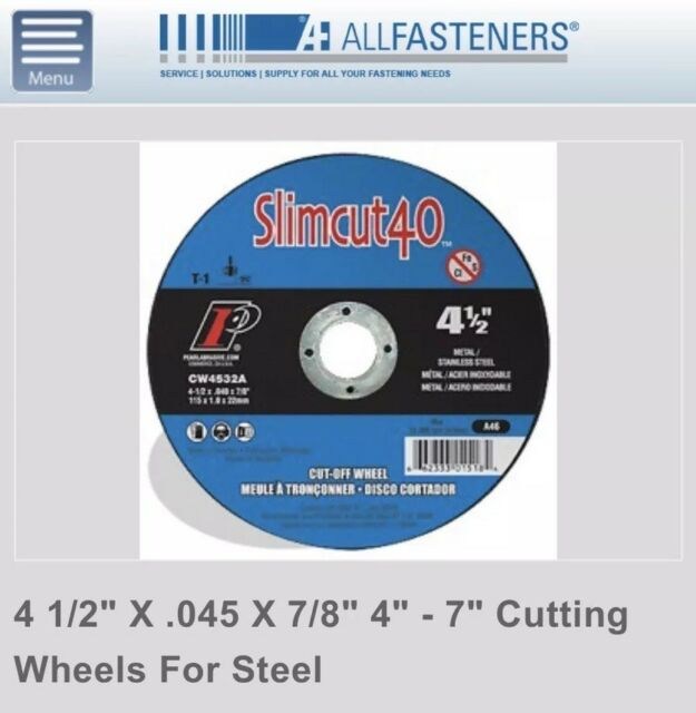 """25 Industril 4.5/""""x.040/""""x7//8/"""" Cut-off Wheel Stainless Steel /& Metal Cutting Disc"""
