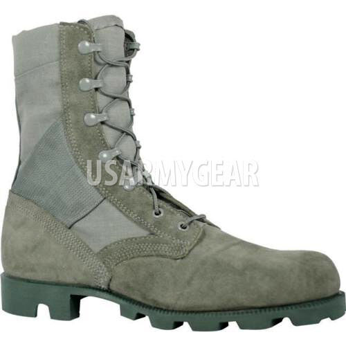 Made in USA Air Force Foliage Sage Green Jungle Combat Boots Panama Soles