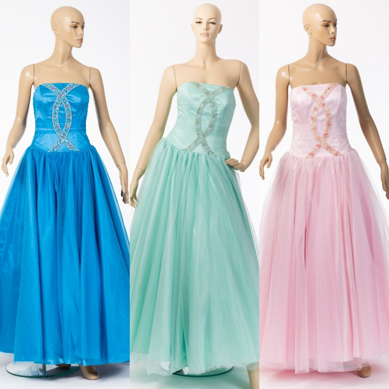 Prom Party Evening Bridesmaid Dress Wedding Ball Gown Adult Princess Costume