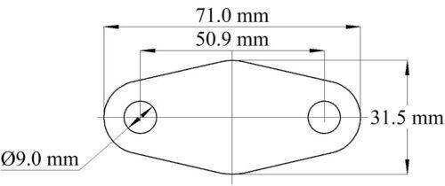 POMPA di carburante inox Vuoto Piastra-Ford CVH OEA Testa t88 xr2 RS SAAB Morgan LIMA