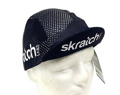 SKRATCH LABS BLACK COOLMAX MESH TEAM CYCLING CAP NEW HAT  ** NEW DESIGN !!