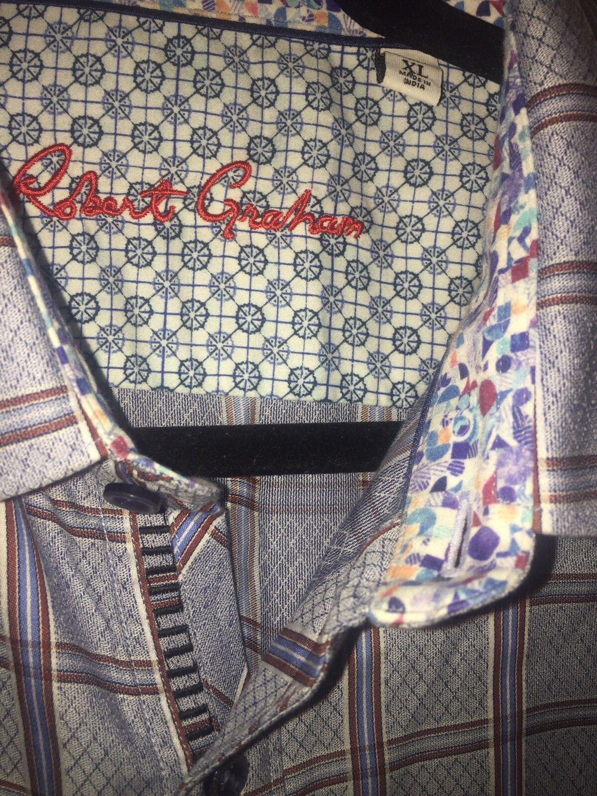 Robert Graham Sharp blueee Button Down Shirt Sz XL Classic Fit