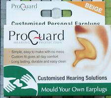 Proguard Mould Your Own MYO Earplugs effective to 24dB Beige Skin Colour