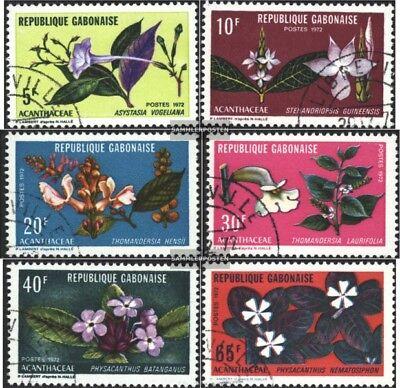 kompl.ausg. Gabun 464-469 Gestempelt 1972 Einheimische Flora