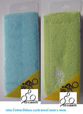 """2 x Bike Jogging Fitness Gym Cycle Workout 100% Cotton face Towel 12"""" x 12"""""""