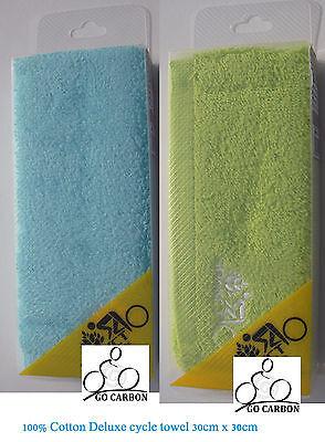 """2 X Vélo Jogging Fitness Gym Cycle d/'entraînement 100/% Coton Visage Serviette 12/"""" X 12/"""""""