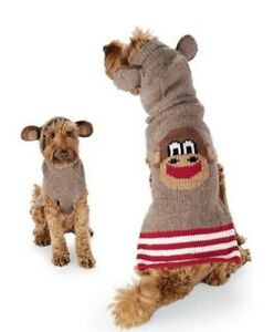 Details About Chilly Dog Wool Sock Monkey Dog Sweater Hoodie Small Medium Or Large Nwt