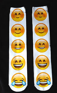 3D Emoticon Long Full Length Ladies EUR 38-42 Socks Emoji Gift UK Size 5-8 OMG
