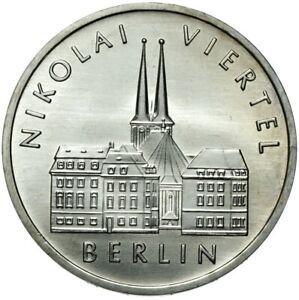 Gedenkmuenze-DDR-5-Mark-1987-A-NIKOLAI-VIERTEL-BERLIN-Stempelglanz-UNC