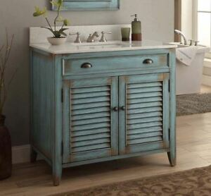 Cottage Style Distressed Blue Abbeville
