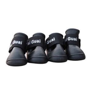 Botas-de-lluvia-para-perros-Zapatos-de-goma-de-proteccion-impermeable-M-N-Z6Y4