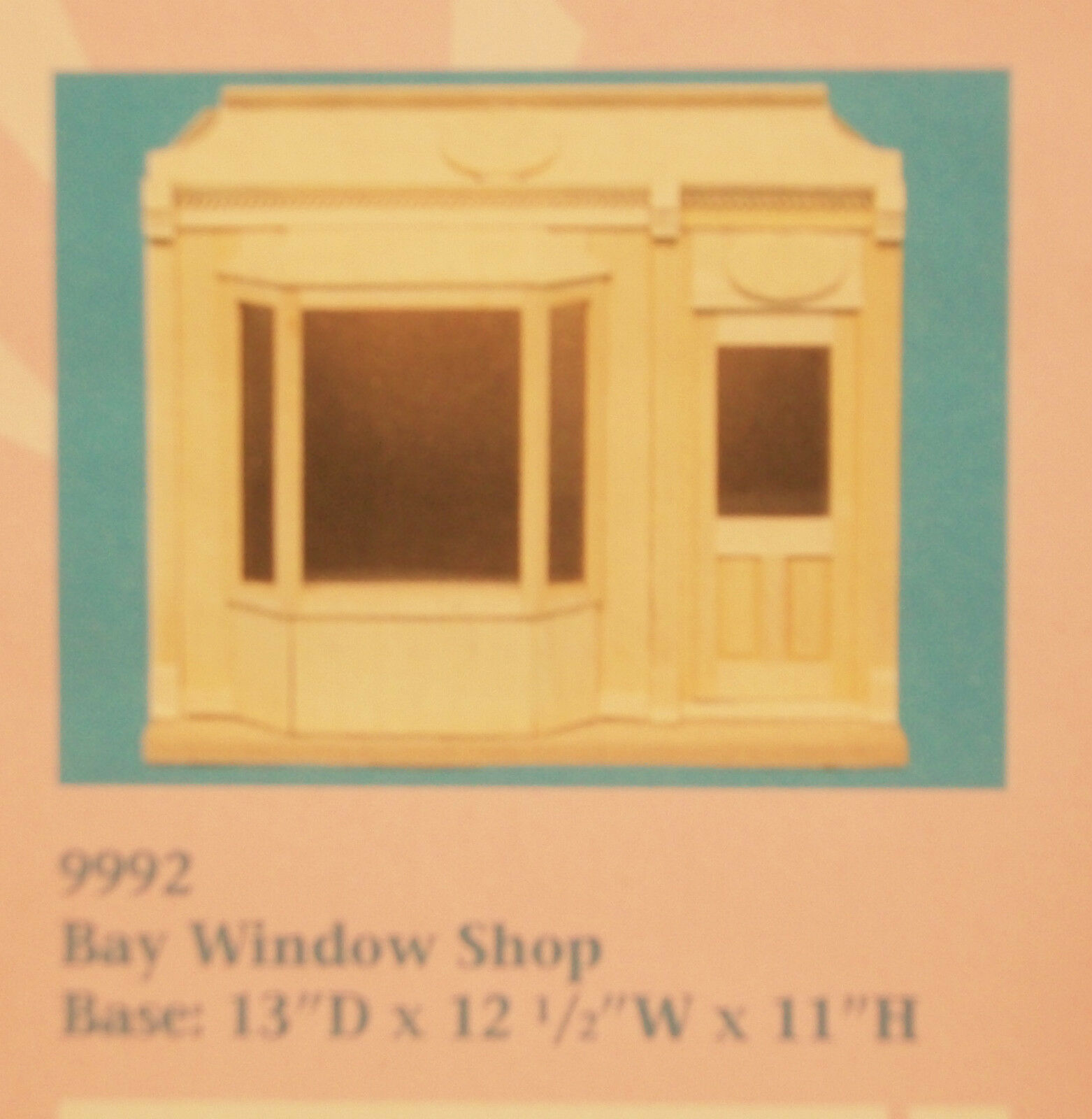 BAY WINDOW SHOP KIT -- by Houseworks 9992 unfinished wood 1/12 scale dollhouse