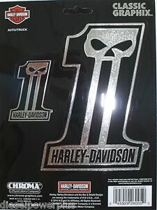 Harley Davidson Motorcycle HD Decal Sticker Chrome Willie G - Harley davidsons motorcycles stickers