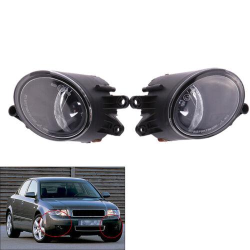 2Pc//Set Driving Fog Lights Headlamp Housing Black for Audi A4 B6 Sedan 2002-2005