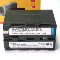 Np-f970 Battery For Sony Np-f960 Np970 Hvr-z5 Dcr-trv900 Pd-150 6600mah