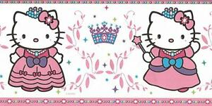Wallpaper Border Hello Kitty Princess Pink Purple Green And Blue Ebay