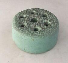 Rookwood Antique Pottery Flower Frog Mottled Robins Egg Blue-Signed        #1586