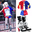 Adult Women Suicide Squad Harley Quinn Cosplay Costume Outfit Boots Shoes Gifts