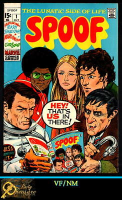 Spoof #1 Vf/nm 9.0 the Lunatic Side Of Life Rapid Heat Dissipation 1970