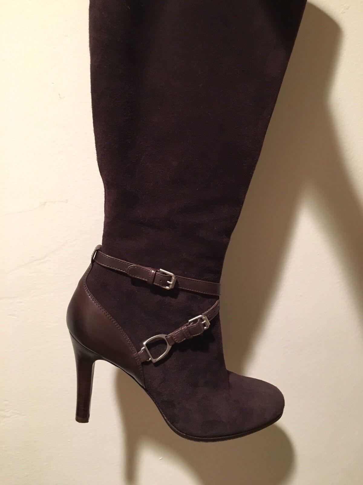 Ralph Lauren Collection braun Suede Stiefel Größe 8  Made in taly Originally  895