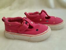 b0bdfd28bf BABY GAP Girl s Pink Polka Dot Mary Jane Canvas Sneakers Shoes 8 Toddler  Farm