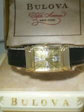 Gran viejo vintage art deco Bulova hairline Dial-aprox. 1945 incl. box