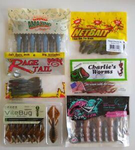 Soft Plastics NEW Fishing Tackle Assortment Grab Box $50 Variety Lures Hooks