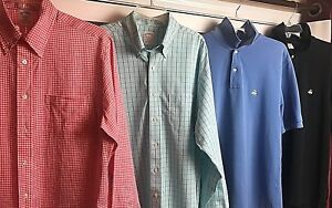 ALot-of-4-Brooks-Brothers-Mens-Size-Large-Button-Up-amp-Original-Polo-Shirt-Golf